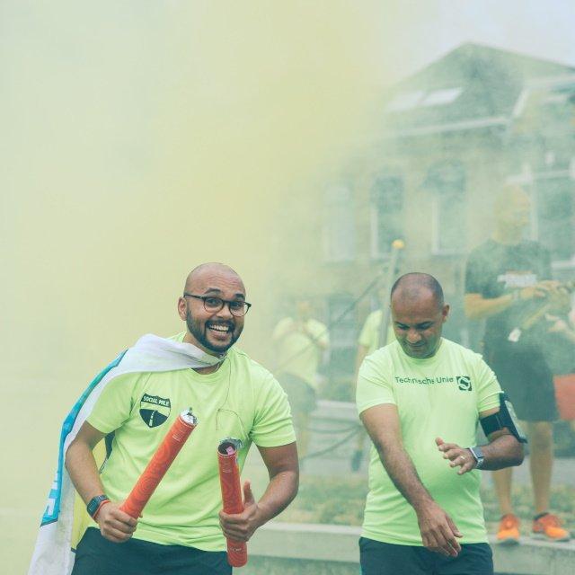 5th anniversary van hardloopgroep Social Mile in Arnhem